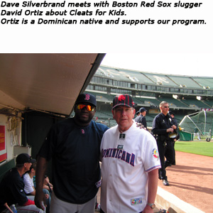 Photo of Boston Red Sox Slugger and Dave Silverbrand